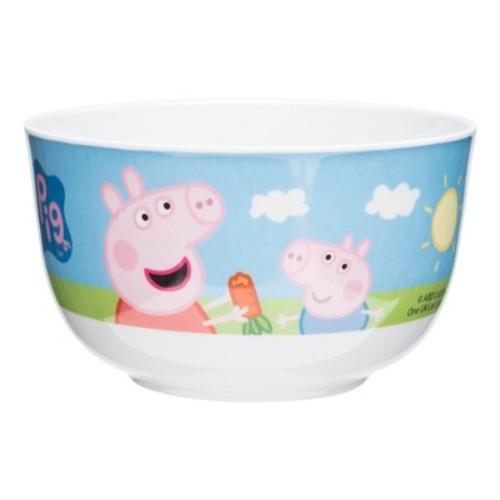 Peppa Pig Zak Designs Melamine Bowl 6oz White/Blue
