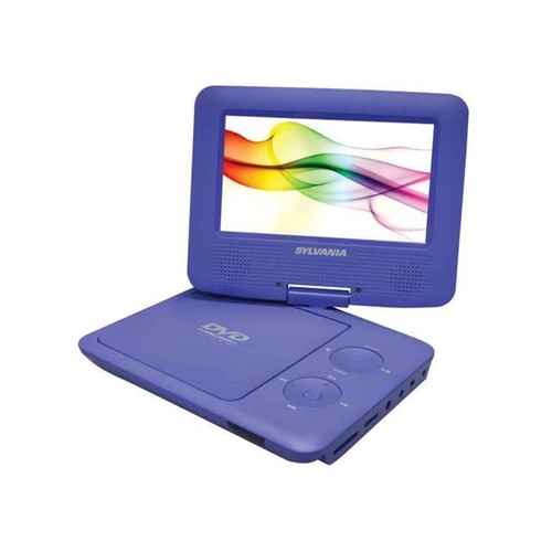 Swivel Screen Portable DVD Player in Purple