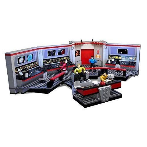Mega Bloks Star Trek BUILDING TOY, Enterprise Bridge Collector MINIFIGURES