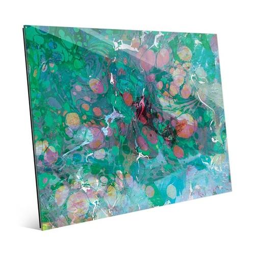 Spotty Malachite Slick Wall Art Print on Acrylic