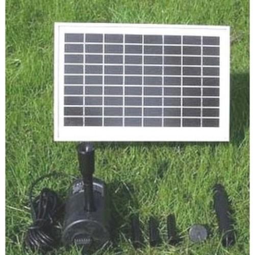 Sunnydaze Solar Panel & Pump Kit w/ Battery Pack & LED Light - 80in Head