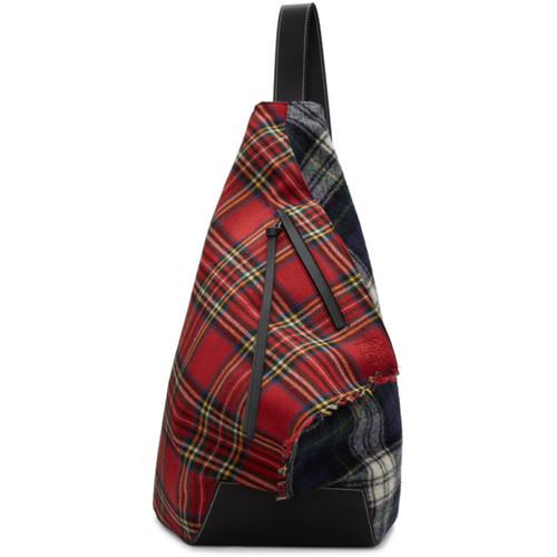 Red & Black Tartan Anton Backpack