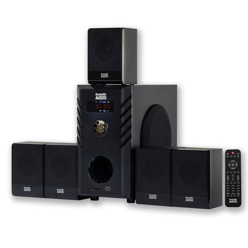 Acoustic Audio AA5104 Home Theater 5.1 Speaker System Surround Sound Multimedia