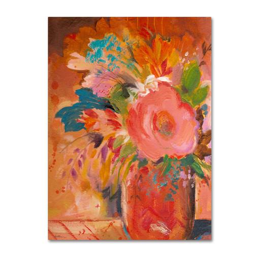 Trademark Global Sheila Golden 'Copper Vase 3' Canvas Art [Overall Dimensions : 18x24]