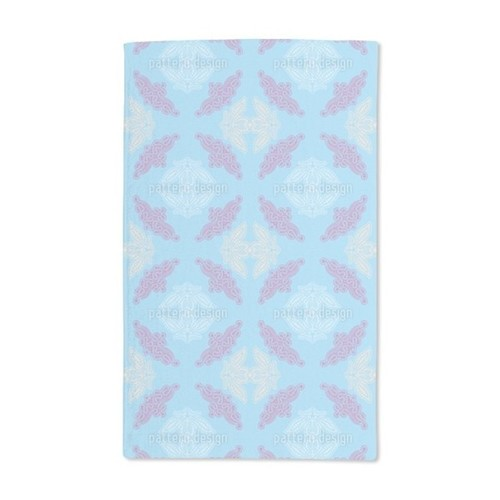 Lacy Ida Blue Hand Towel (Set of 2) - Lacy Ida Blue Hand Towel