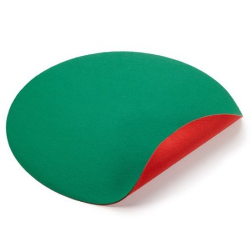 The Christmas Tree Stand Mat 30 in. Reversible Red/Green Floor Protector