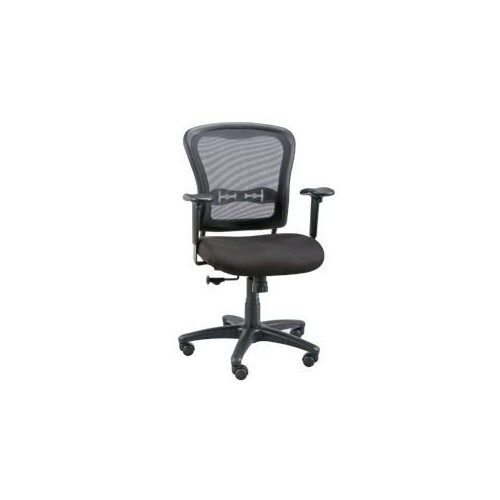 Alvin CH760 Mesh Back Paragon Manager's Chair, Black, Designed for those who love to rock, lean back, and take comfort in a plush, molded foam seat that is 3 1/2