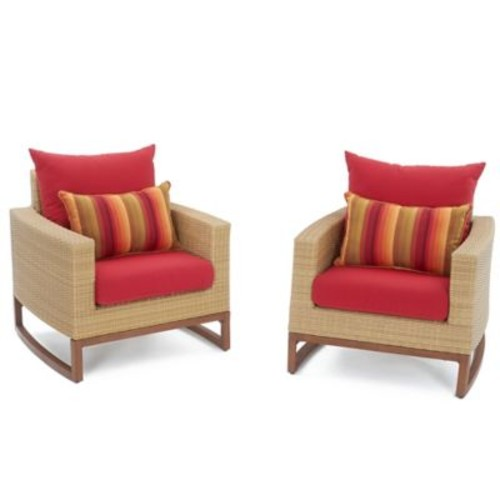 Bayou Breeze Addison Club Chair w/ Cushions; Sunset Red