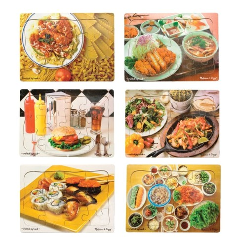 Melissa & Doug Multi-Ethnic Puzzle Set, Set Of 6
