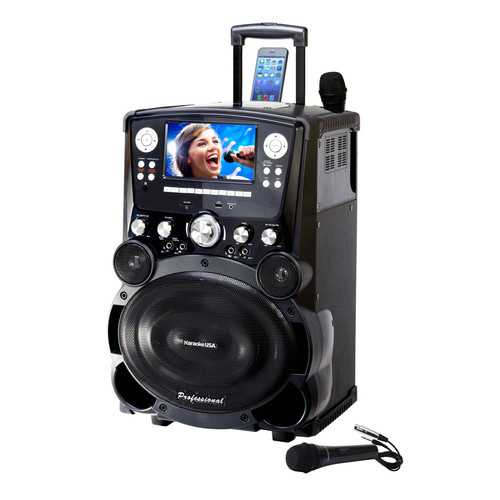 Karaoke USA Professional DVD/CDG/MP3G Karaoke Player with 7 Inch Color TFT Display and Record Function