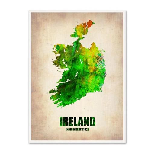 Trademark Fine Art 'Ireland Watercolor Map' 24