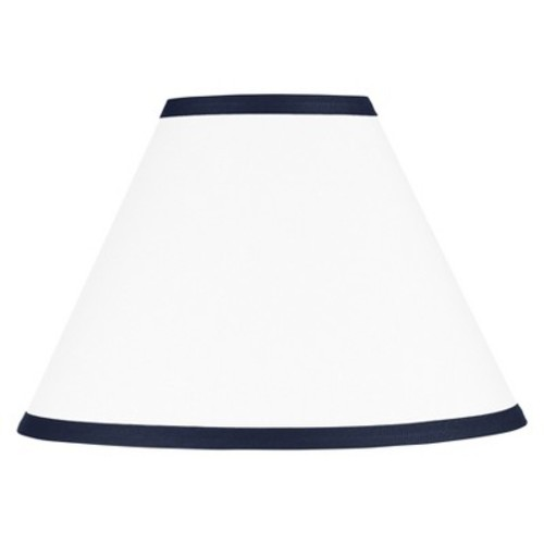 Sweet Jojo Designs Hotel Lamp Shade in White/Navy