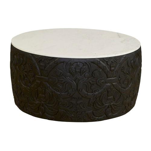 Sydney Marble Coffee Table, Black/White