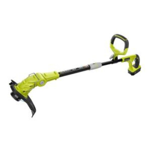 Ryobi ONE+ 18-Volt Lithium-Ion Cordless String Trimmer/Edger - 2.6 Ah Battery and Charger Included