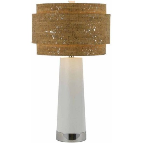 AF Lighting 8402 Table Lamp in White Pearl