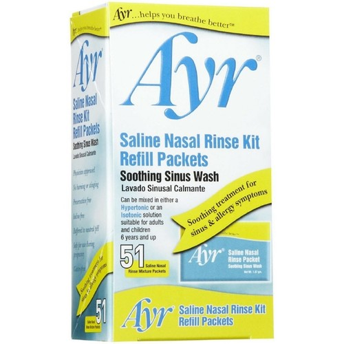 Ayr Sinus Rinse Kit Refill Packets 51 Each [option : Pack of 6]