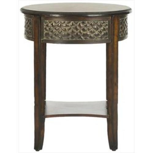 Safavieh AMH4081A Howard Side Table - Dark Brown