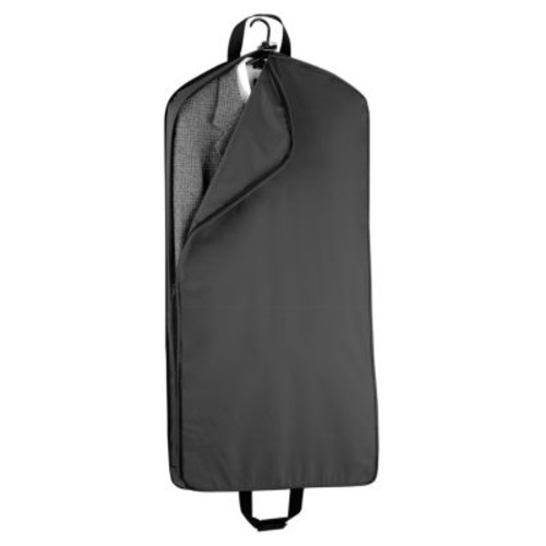 WallyBags 45 Inch Extra Capacity Garment Bag with Pockets [Black]