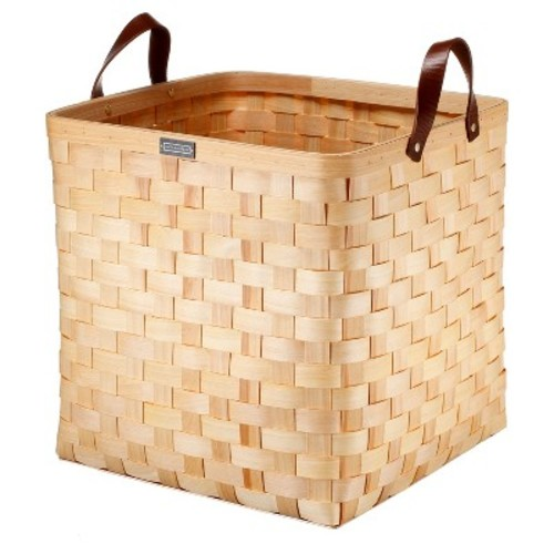Cypress Wood Basket Large - Natural - Smith & Hawken