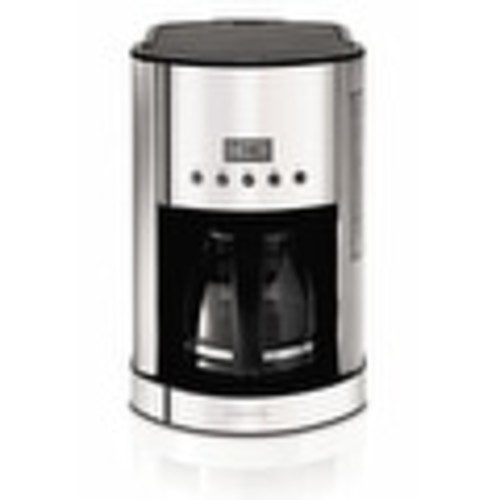 Krups KM730D50 Programmable Coffeemaker 12 Cup, Stainless Steel