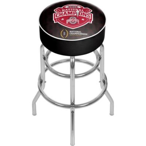Trademark OSU National Champions 31 in. Chrome Padded Bar Stool