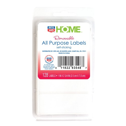 Rite Aid All Purpose 128Count, White