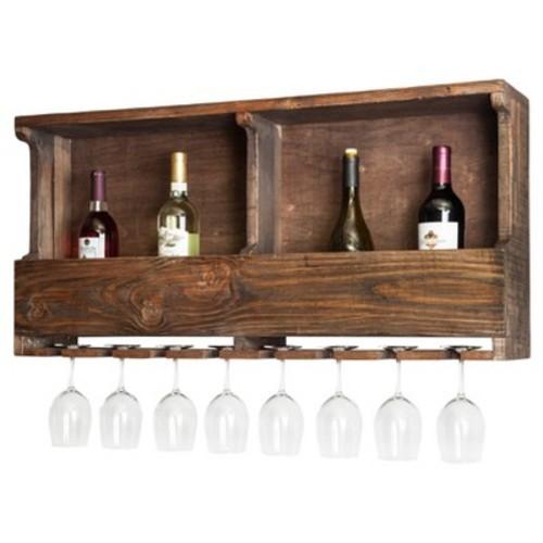 Alaterre Furniture Pomona Reclaimed Wood Wine Rack