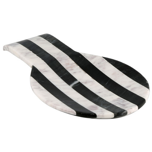 David Tutera's Old Hollywood Striped Marble Spoon Rest