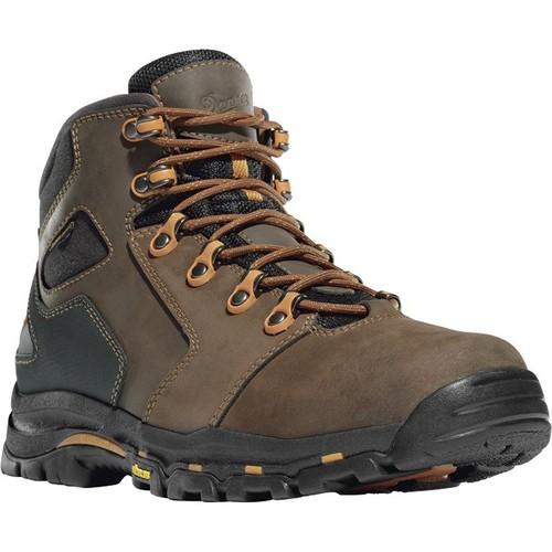 Danner Vicious 4 1/2in. Waterproof Gore-Tex Non-Metallic Work Boots  Brown/Orange, [WIDTH : MEDIUM]