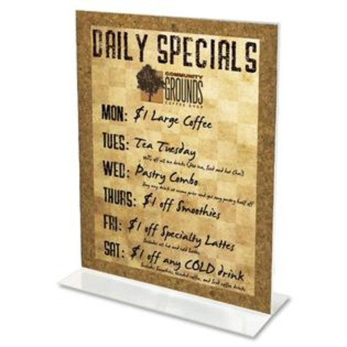 Deflecto Classic Image Stand-Up Two-Sided Desktop Sign Holder, Plastic, 5 x 7