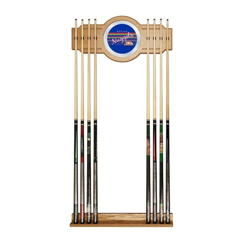 Denver Nuggets Hardwood Classics Billiard Cue Rack with Mirror