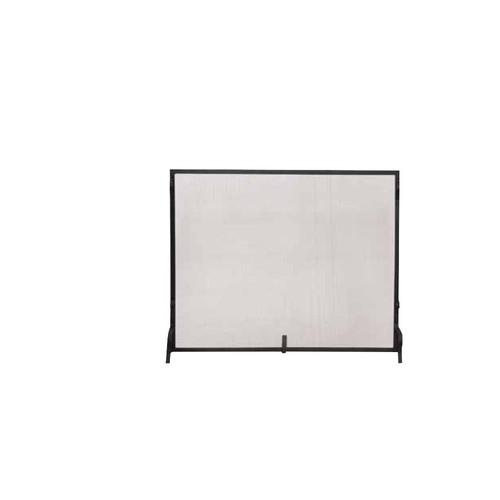 UniFlame Black Wrought Iron Medium Single-Panel Sparkguard Fireplace Screen
