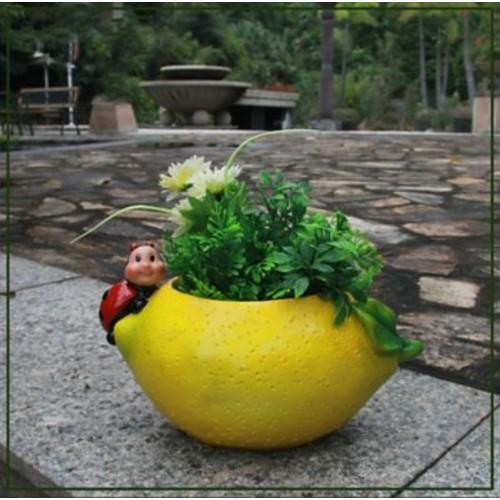 Sintechno Inc Lemon Resin Statue Planter