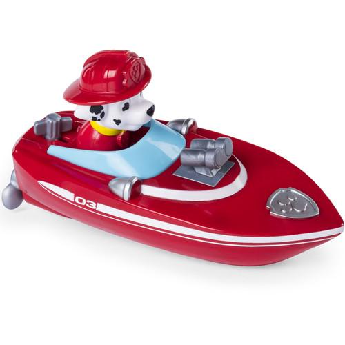 Paw Patrol Bath Paddling Pup Boat Marshall Figure and Vehicle