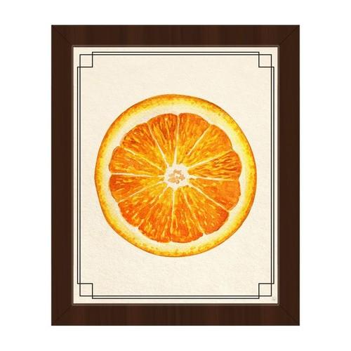 Orange Slice Framed Canvas Wall Art Print