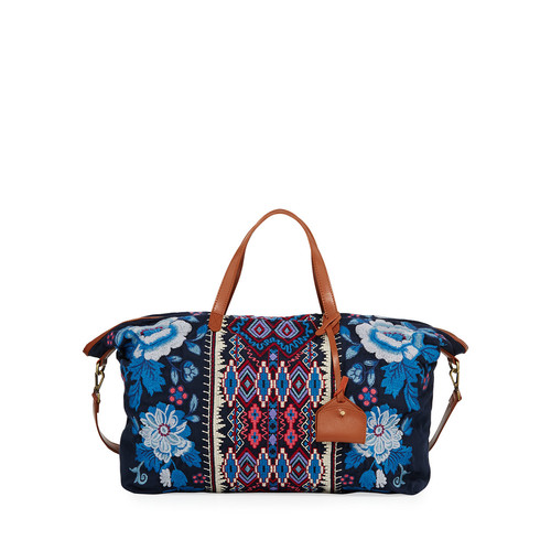 Dexter Embroidered Canvas Weekend Bag
