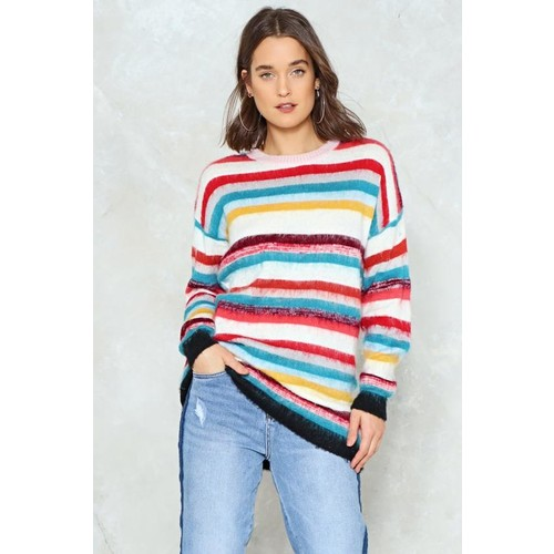 Somewhere Over the Rainbow Striped Sweater