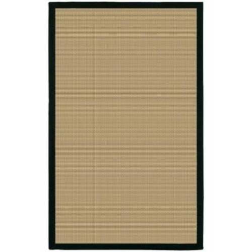 Chandra Bay Tan/Black 5 ft. x 8 ft. Indoor Area Rug