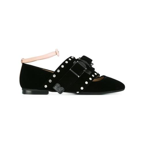 Nº21 Embellished Front Strap Slippers