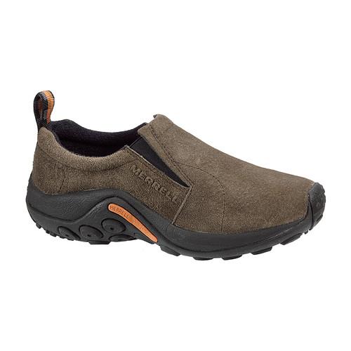 MERRELL Womens Jungle Moc Shoes, Gunsmoke