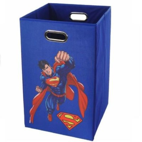 Modern Littles Superman Folding Laundry Hamper; Blue