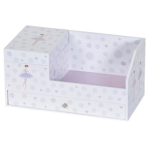 Mele & Co. Joss Girls' Musical Ballerina Jewelry Box & Organizer - White