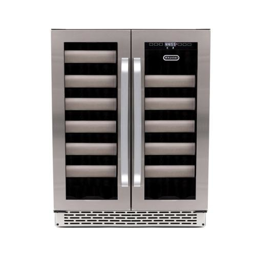 Whynter - Elite 40-Bottle Wine Refrigerator - Stainless Steel