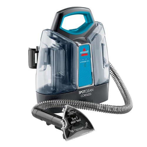 BISSELL - SpotClean Cordless Deep Cleaner - Titanium/Disco Teal