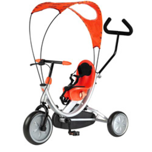 Tricycle Stroller Bike, 3-1 Stroller with Removable Canopy & Stroller Organizer by Lil Rider