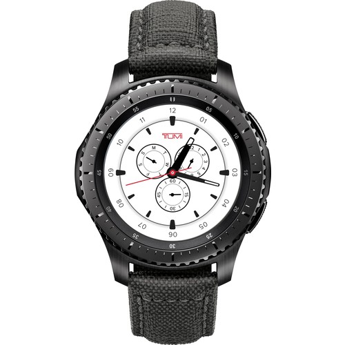 Samsung - Tumi Special Edition Gear S3 Smartwatch 46mm - Stainless Steel