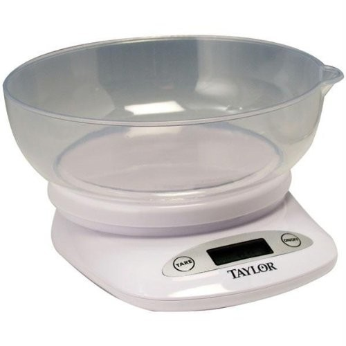TAYLOR 380444 4.4-LB DIGITAL KITCHEN SCALE WITH BOWL