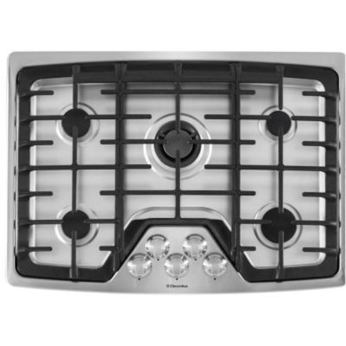 Electrolux 30 in. Deep Recessed Gas Cooktop in Stainless Steel with 5-Burners including Min-2-Max Burner