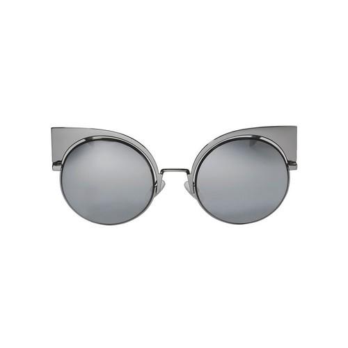 FENDI Black Mirror Round Sunglasses