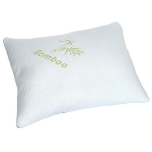 Remedy Memory Foam Pillow with Removable Cover in White